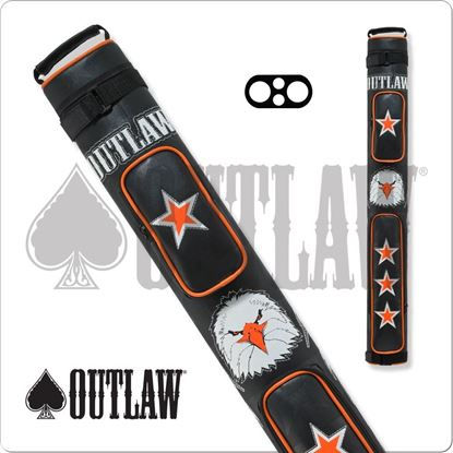 Picture of OUTLAW OLB22C 2X2 STITCH EAGLE HARD CUE CASE