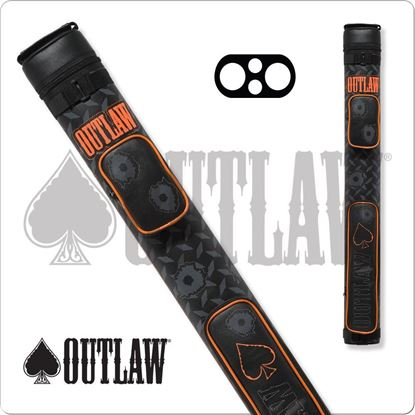 Picture of OUTLAW OLB22F STITCH BULLET HOLE 2X2 HARD CUE CASE
